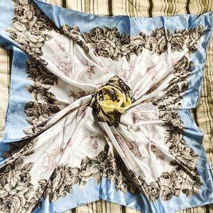 Vintage silk equestrian scarf